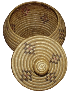 Yup'ik lidded basket c 1890