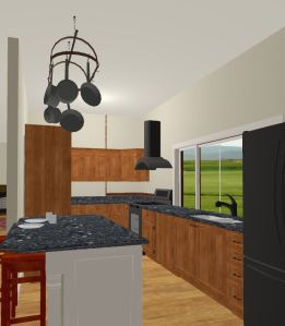 simulated kitchen