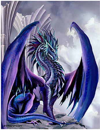 an artstically styalized fantasy dragon