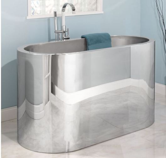 oval stainless steel tub