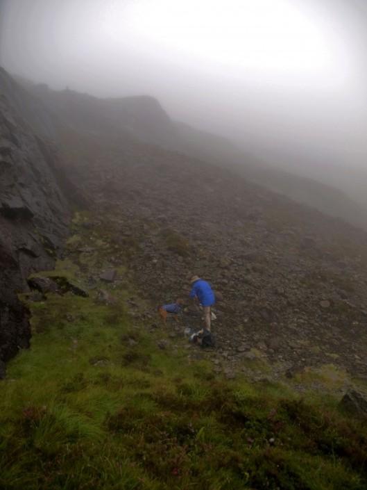 hiking in fog