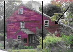 Early 18 th century New England Salt box house