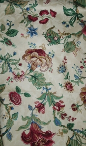 Waverly Fabric Botanical Jocobean Fabric