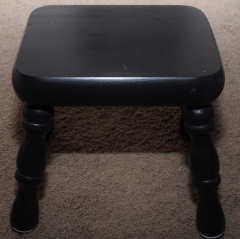 small black stool