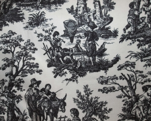 Waverly Black Toile Fabric