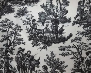 Waverly Black Toile Fabric