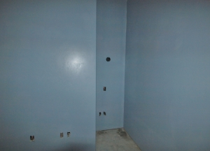 tiny nook in room under construction